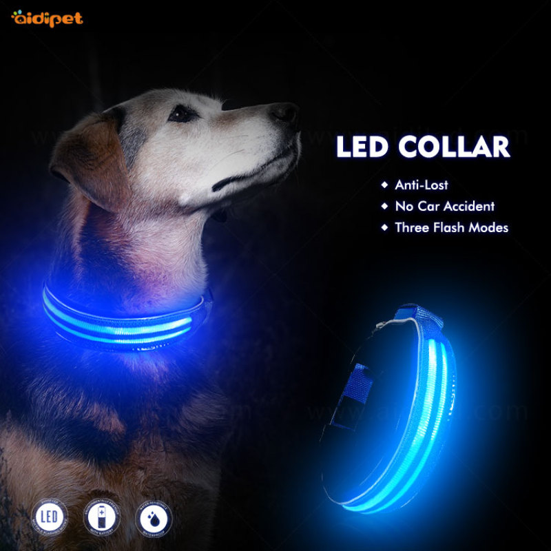 wholesale glow dog collars pet products dog cat led light dog collar Pet CollarWith Led Lights
