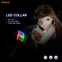 Wholesale Design USB Puppy Belt Rechargeable Usb Light Up Led Dog Collar Ready to ShipFor Dogs