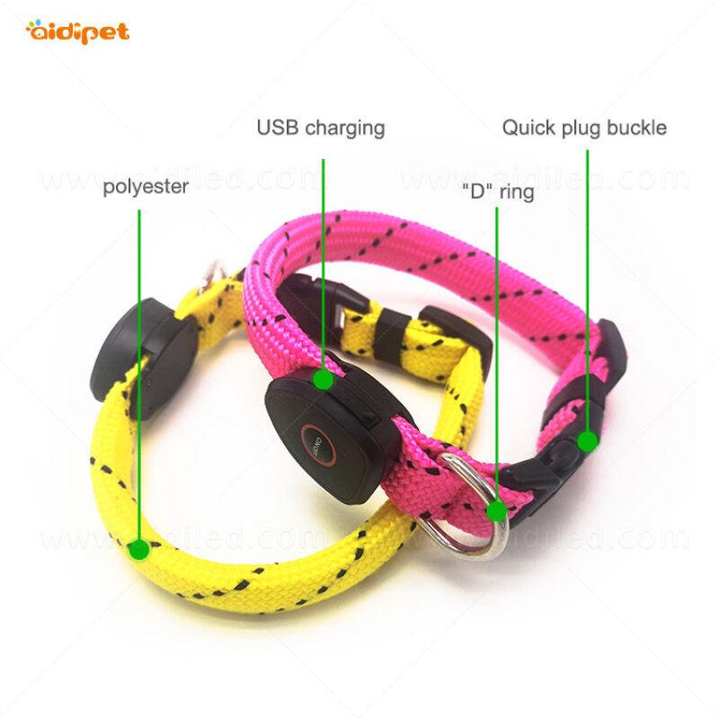 Best Selling Products Nylon Dog Collar Waterproof Flashing Led Leather Dog Collar Pet Dog Collar
