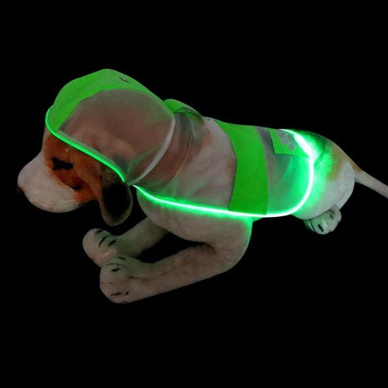 Hot Selling Led Raincoat for your Dog Night Safety Flashing Luminous Dog Raincoat Waterproof Clothes for Dog
