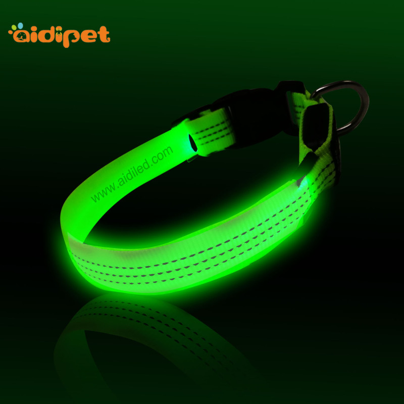 Good Quality Wholesale Led Light Dog Collar USB Rechargeable Pet Led Collar Reflective Collar for Dogs