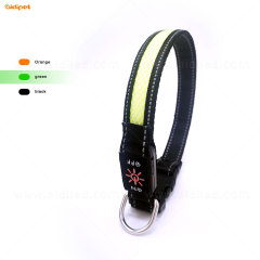wholesale custom glow private label dog collars buckle pet products dog led light dog collar