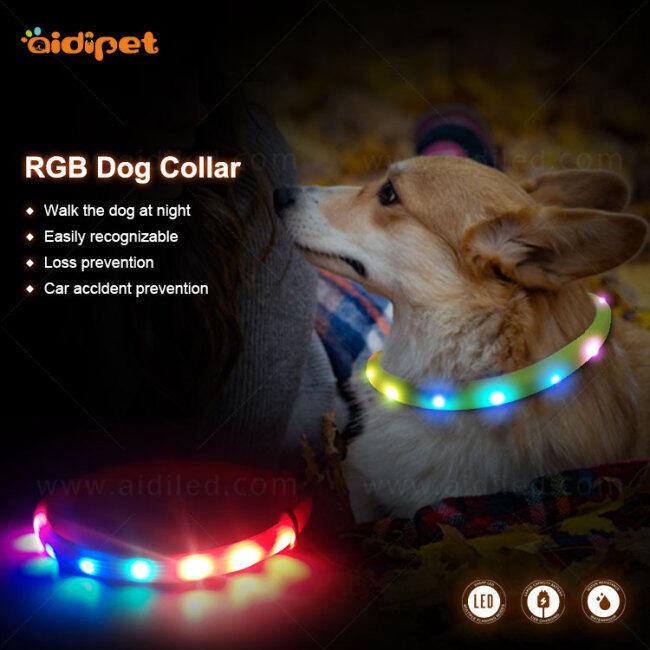 safernite safe for night led dog collar, led with RGB light,dog collar led