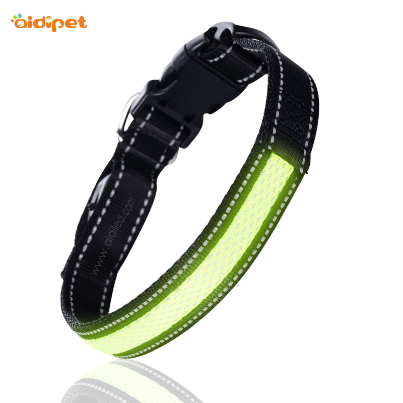 Adjustable Led Dog Collar Mesh Pattern Led Dog Collar and Leash Custom Logo