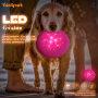 Pet Dog Training Soft Toy Flying Disc Fetch Silicone Fun Toy Led Flashing Dog Flying Disc