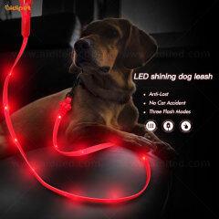 New arrival Wholesale Illuminating Walking Night Glowing USB Rechargeable Led Dog Leash