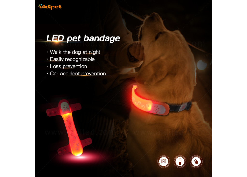 Rechargeable LED Polyester Webbing Pet Collar Review