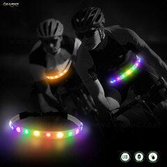 LED Light up Flashing Waterproof Running Belt USB Rechargeable Sport Waist Bag with Zipper