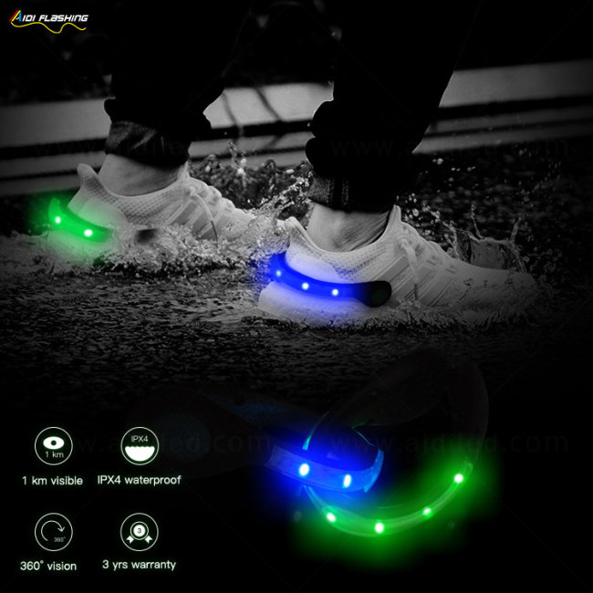 Super Bright Night Running Safety Flashing Light Up Led Shoes Clip