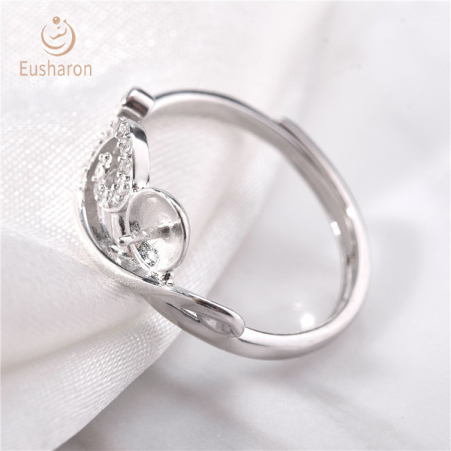 Infinity Somersault Cloud Sterling Silver Pearl Ring Mount