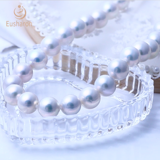11-12mm/12-13mm white Edison round pearl necklace