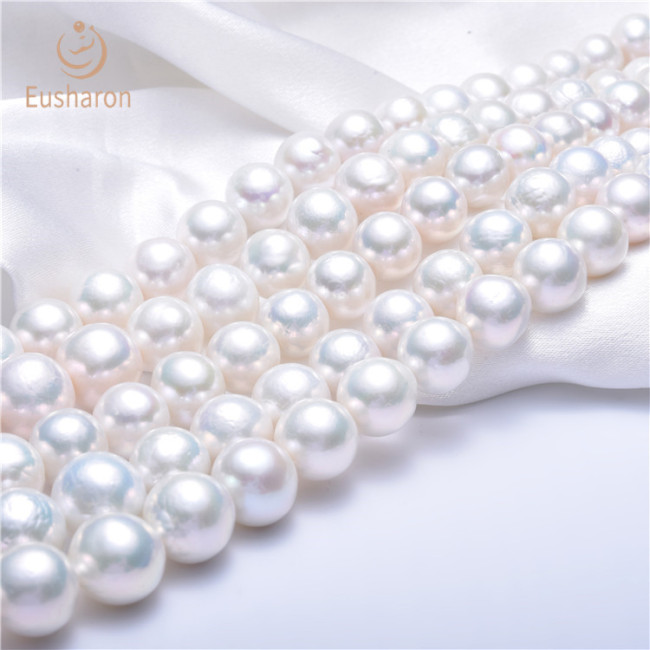 12-14mm Round Edison White Color Pearl Strand