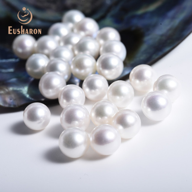 9-9.5mm AAA Round White Freshwater Pearl