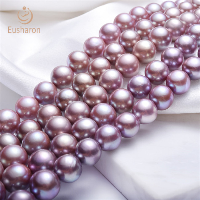 12-14mm Natural Color Round Edison Pearl Strand