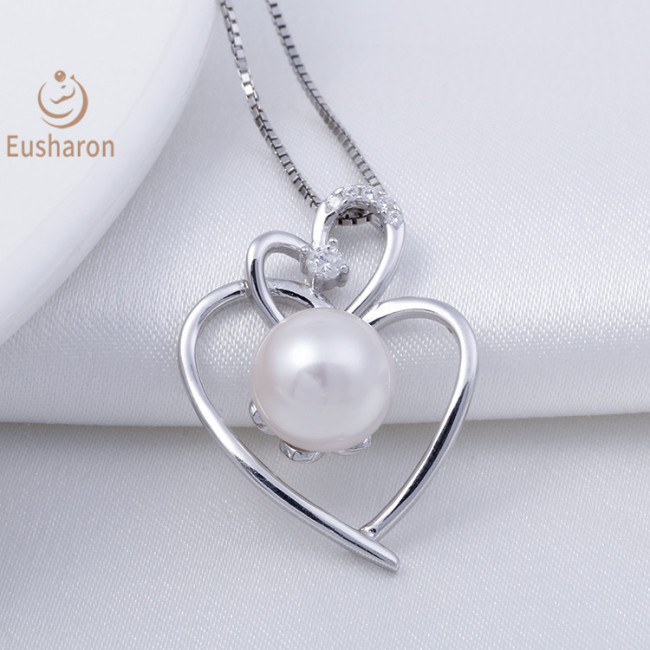 Heart-to-heart Sterling Silver Pearl Mount Pendant