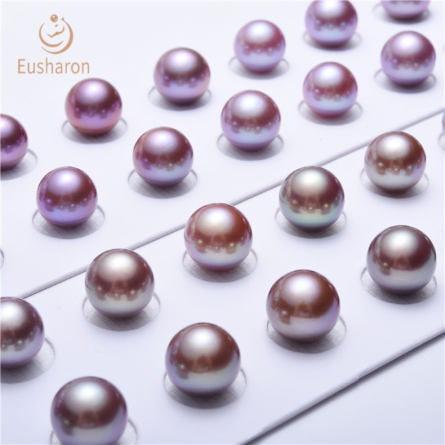 9-12mm AAA+ Lavender/Pink Round Edison Pearl Matching Twins
