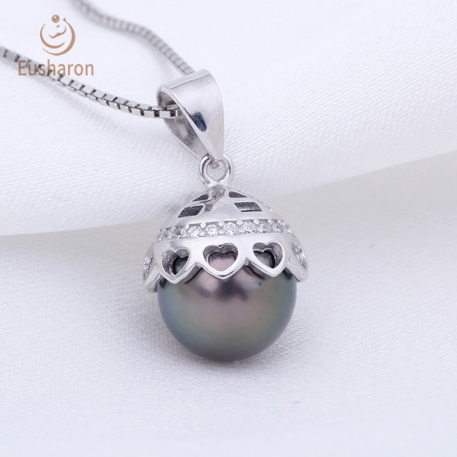 Small Love Cap Sterling Silver Pearl Mount Pendant