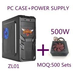 Supreme Alliancezlo1 Armor Shape Panel Desktop Computer Chassis+500W power supply