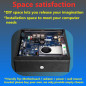 F05 New design slim ITX MINI desktop computer chassis with three colors choosing