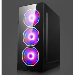New model desktop ATX computer gaming case with glasses panels