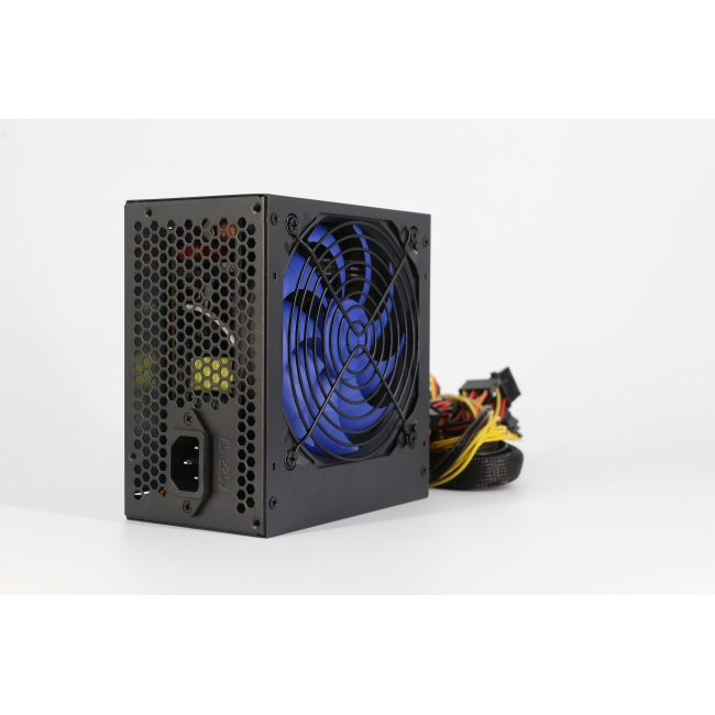 New full range auto voltage 80+ bronze card active transformer ATX  power supply with blue fan