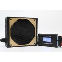 Brand new active golden bezel self-net ATX power supply with 14cm large fan