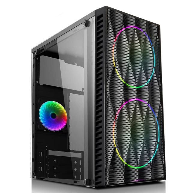 165-21 Gaming case office case with left acrylic plate on 165 mini case series