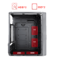 165-22 Gaming case office case with left acrylic plate on 165 mini case series