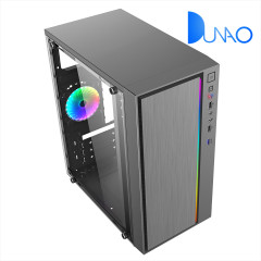 1606 Gaming case office case with left glass plate on 275 mini case series