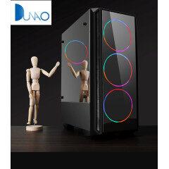 Streamer Rainbow Design Desktop Chassis USB3.0 white color Computer Case