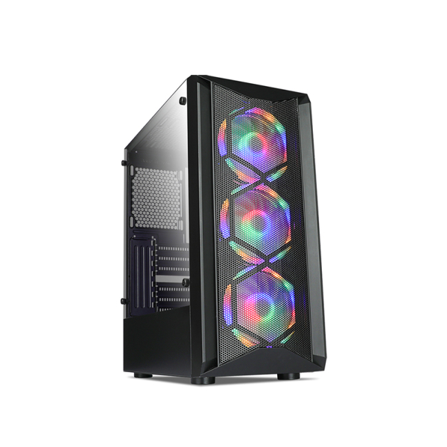 Magnetic front Gaming pc case computer atx case with rgb fan