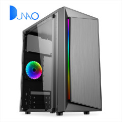 1607 Gaming case with left glass plate colorful line on the panel