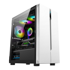 New game case, simple and stylish, support 360 water cooling and RGB fan