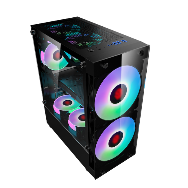 Moon big fan case desktop gaming atx case 180mm fan