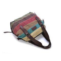 Canvas Totes Striped Womens Handbag 2020 Patchwork Rainbow Shoulder Bag Fashion Female Casual  Crossbody Bag Sac a Main