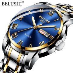 Top Brand Luxury Mens Watches Luminous Waterproof Stainless Steel Watch Quartz Men Date Calendar Business Wristwatch