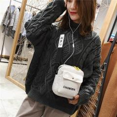 New Fashion Korean Style INS Canvas Small Female Versatile Students Shoulder Bag Soft Girl's Cute Flap Bag