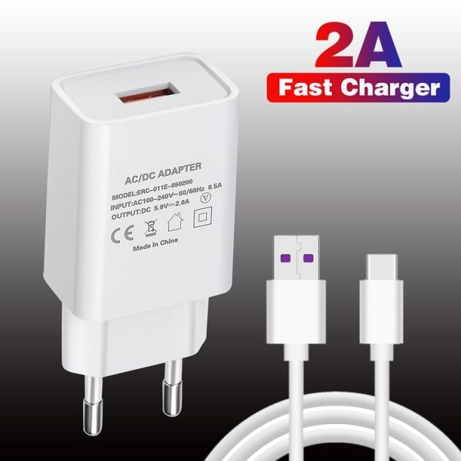 Original USB Charger Fast Phone Charger for Samsung S7 Xiaomi Redmi Note 10 Pro Huawei Wall Charger Adapter Mobile Phone Charger