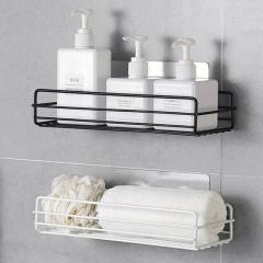 Bathroom Storage Shelf & Rack Shampoo Shower Gel Floating Shelf Home Decoration Kitchen Accessories Free Punching Wall Hanging