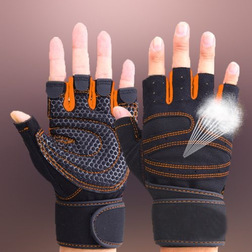 Weightlifting Men/Women Half Finger Gloves Gym Workout Training Bodybuilding Gloves Dumbbell Fitness Half Finger Hand Protector