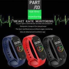 M4 Smart Digital Watch Bracelet for Men Women with Heart Rate Monitoring Running Pedometer Calorie Counter Health Sport Tracker
