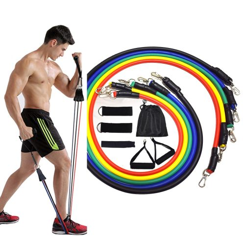 15 Pcs Resistance Bands Set Fitness Bands Resistance Gym Equipment Exercise Bands Pull Rope Fitness Elastic Training Expander