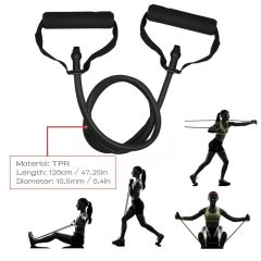 5 Levels Resistance Bands with Handles Yoga Pull Rope Elastic Fitness Exercise Tube Band for Home Workouts Strength Training