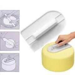 White Cake Polish Tool Cake Smoother Plastic Cake Decorating Smoother Polisher Tools Fondant Sugarcraft Tool Home Kitchen Tool
