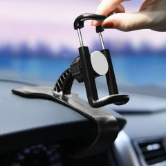 Dashboard Mount Phone Holder in Car  Flexible Clip Universal Stand Bracket Support For 4 to 6 inch Mobile Smartphones
