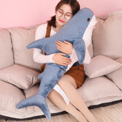80/100/130cm Soft Shark Plush Toy  Stuffed Shark Toy Pillow For Kids Birthday Gift or Shop Home Decoration