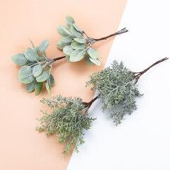 6PCS Artificial plants decorative flowers wreaths wedding home decoration accessories diy gift box a cap scrapbooking floristics
