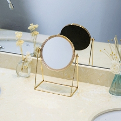 Metal Decorative Mirror Lady Desktop Makeup Mirror Crafts Three-Dimensional Princess Mirror Home Decor Accessories
