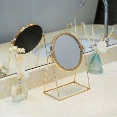 Metal Decorative Mirror Lady Desktop Makeup Mirror Crafts Three-Dimensional Princess Mirror Home Decor Accessories