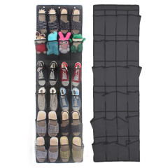24Pocket Shoe Organizer Door Hanging Shoes Storage Wall Bag Closet Holder Family Save Space Organizador Home Decoration #R25